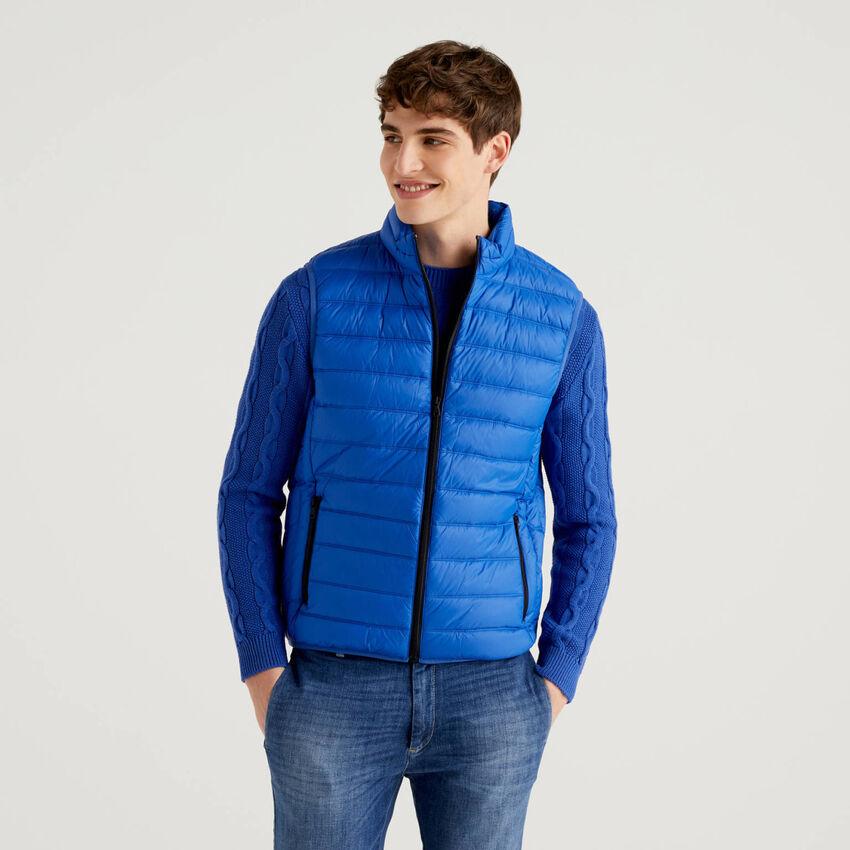 Ultralight sleeveless padded jacket