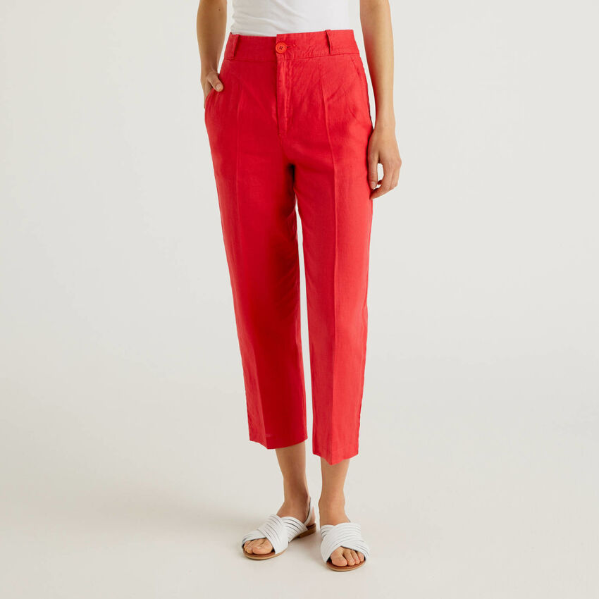 Pants in pure linen