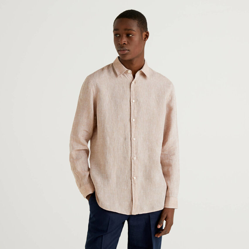 Shirt in pure linen