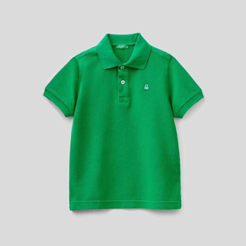 Polo in pure cotton pique