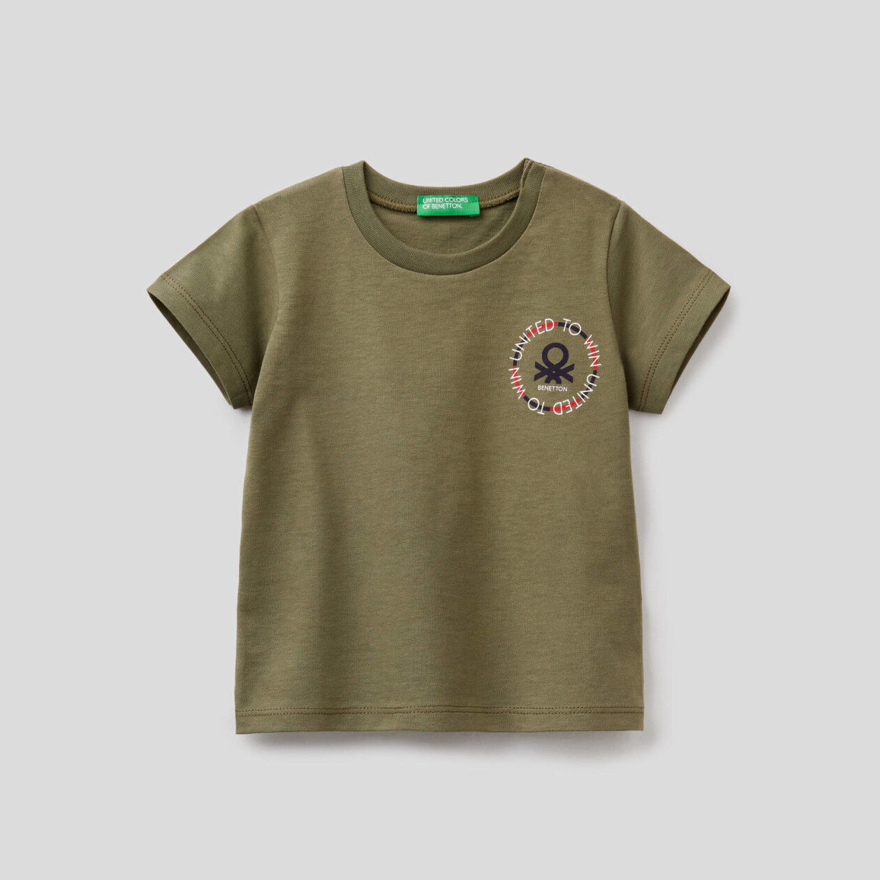Organic cotton t-shirt with logo print
