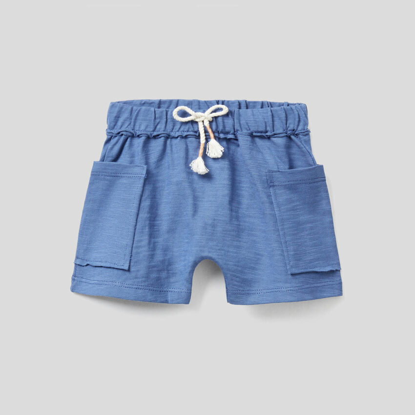 Shorts in pure organic cotton