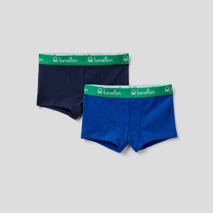 Two solid colored boxers