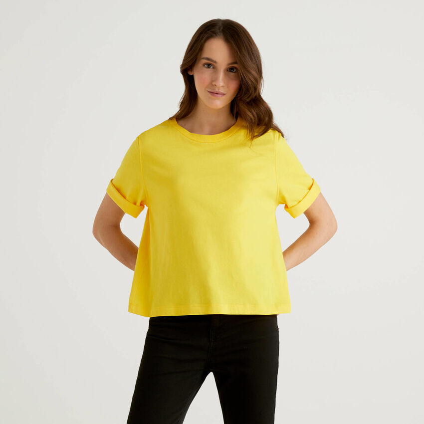 100% cotton boxy fit t-shirt