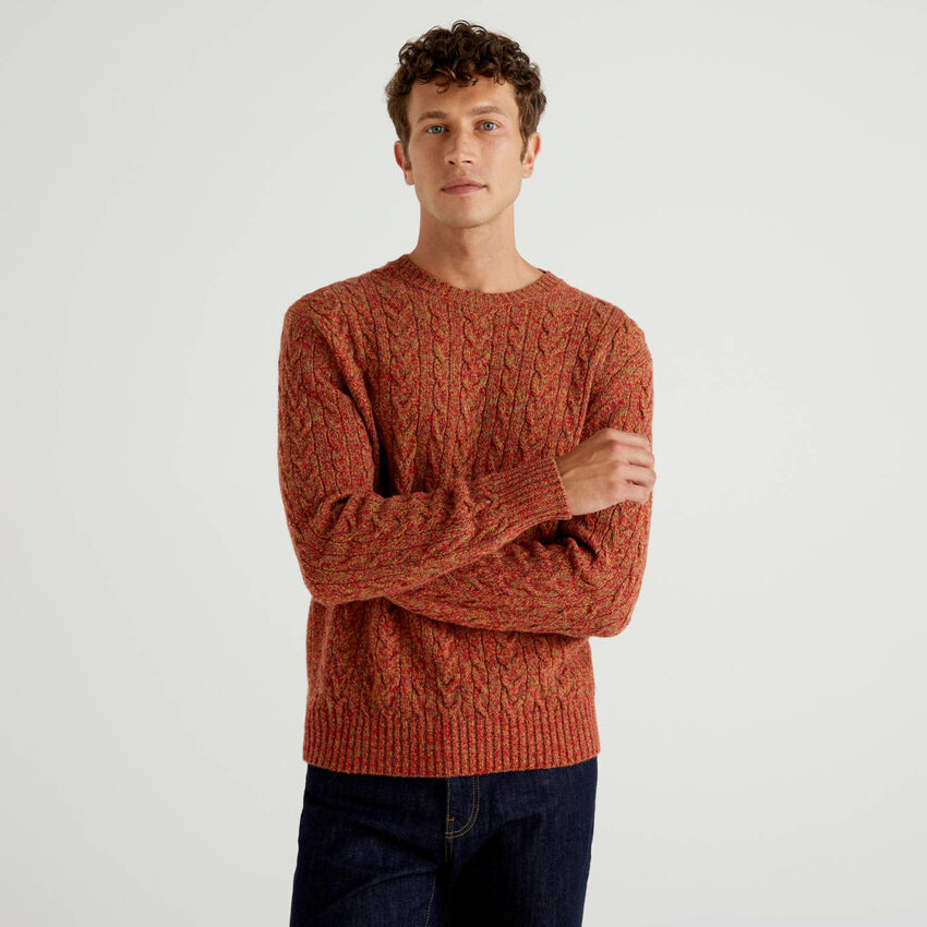 Sweater in pure Shetland wool