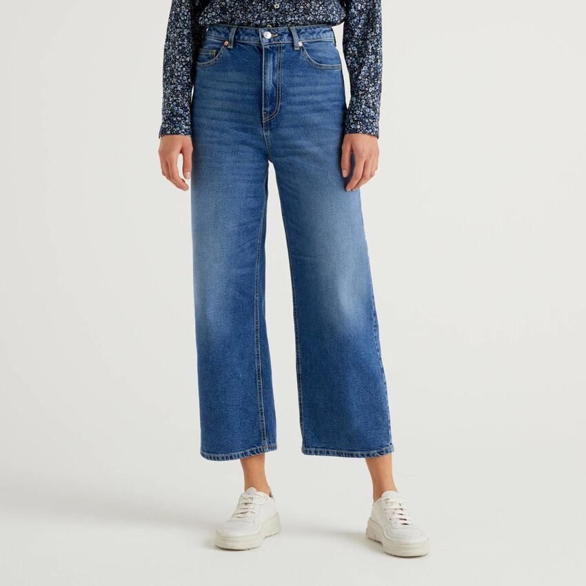 Mum fit jeans in stretch denim