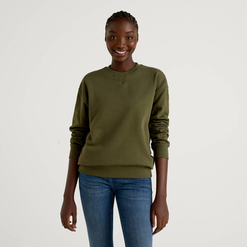 Military green unisex sweatshirt