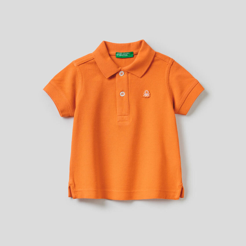 Polo in pure cotton pique
