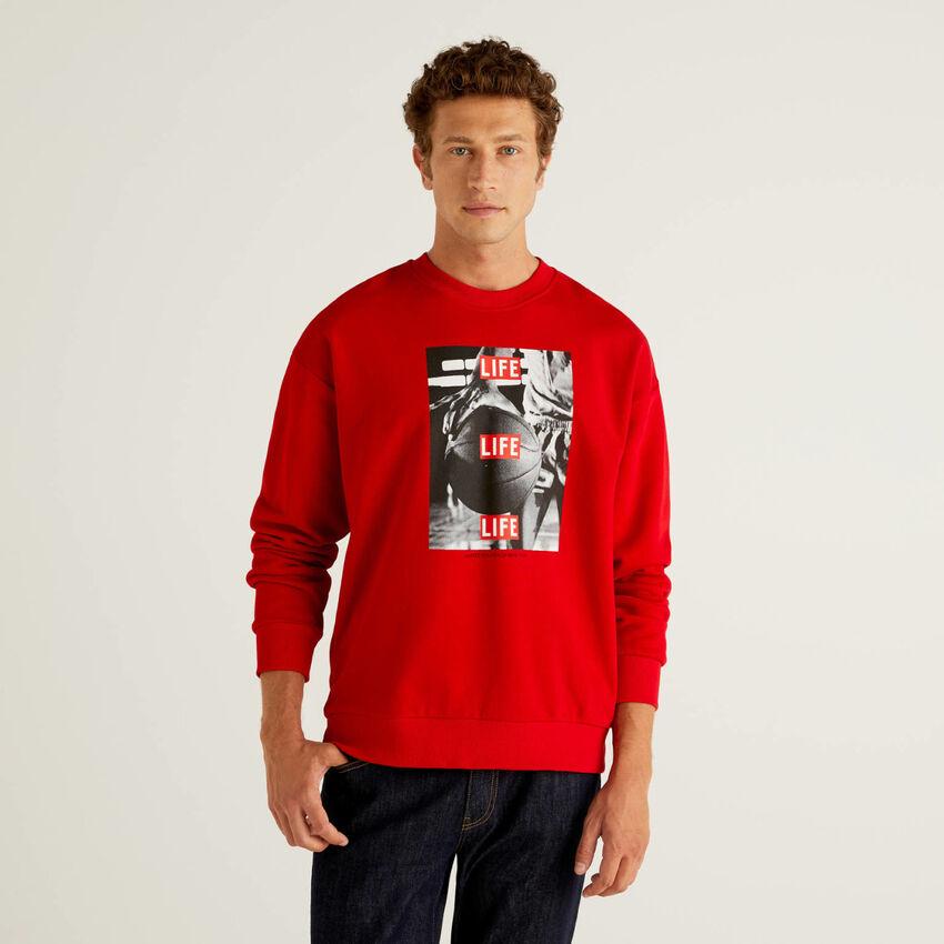 Life sweatshirt in 100% organic cotton