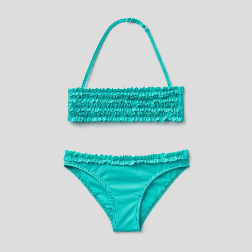 Bikini in ECONYL® with rouches