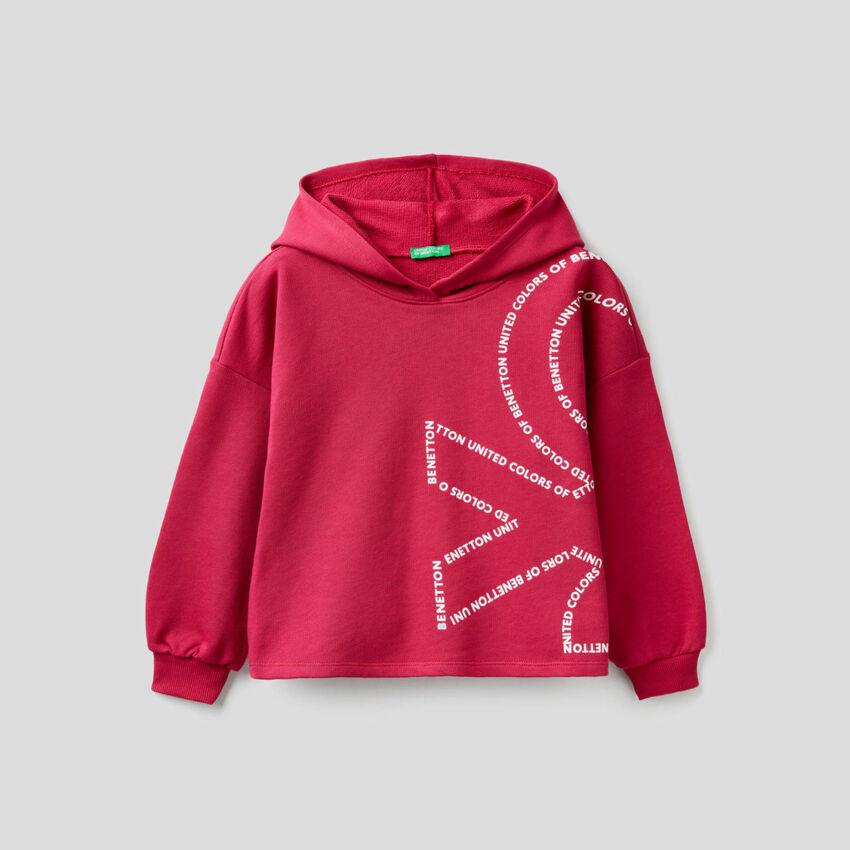 Boxy sweatshirt in 100% cotton