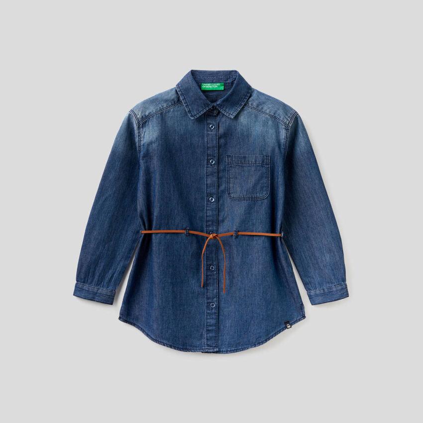 Jean shirt in 100% cotton