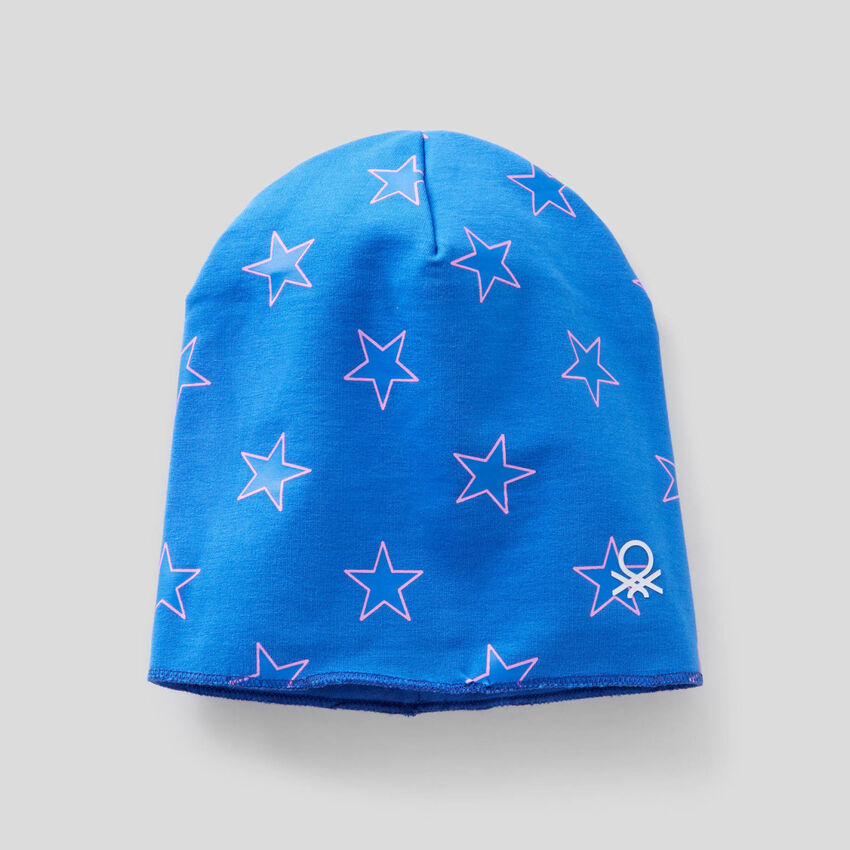 Reversible hat in 100% cotton