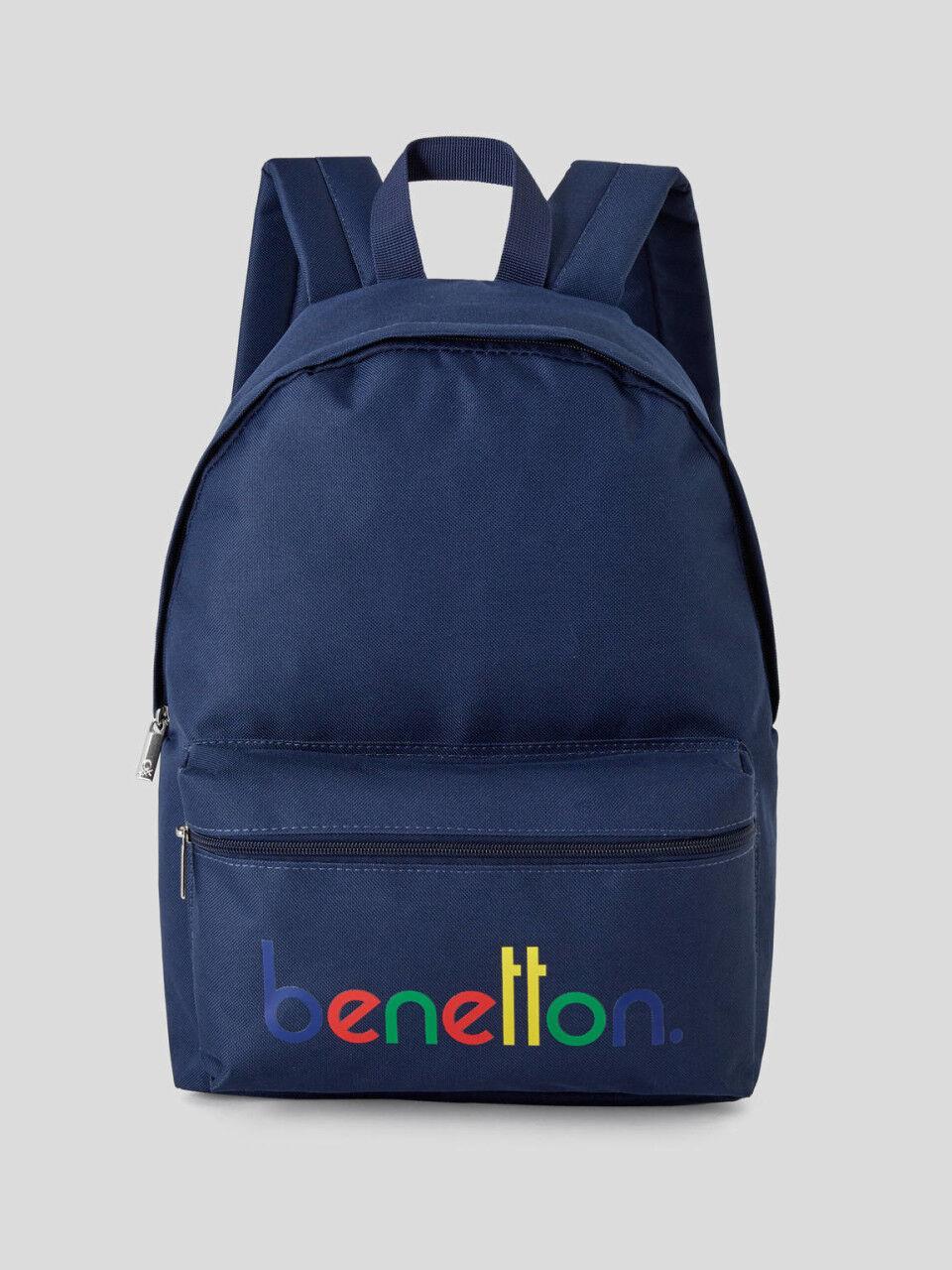 Benetton Backpack Rucksack Travel Holiday POLKA DOTS Turquoise School Bag OFFICI